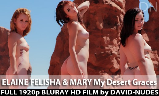 Elaine & Felisha & Mary - `My Desert Graces` - by David Weisenbarger for DAVID-NUDES