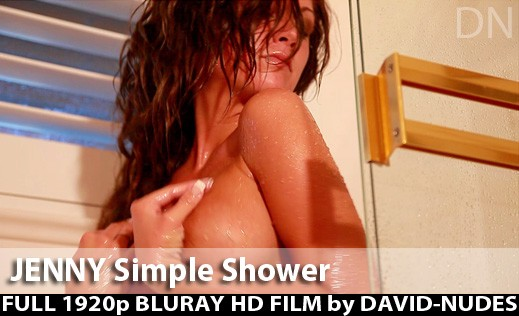 Jenny - `Simple Shower` - by David Weisenbarger for DAVID-NUDES