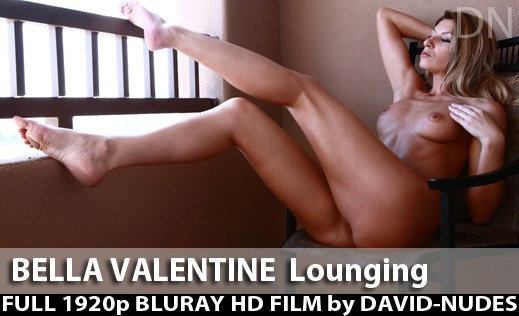 Bella Valentine - `Lounging` - by David Weisenbarger for DAVID-NUDES