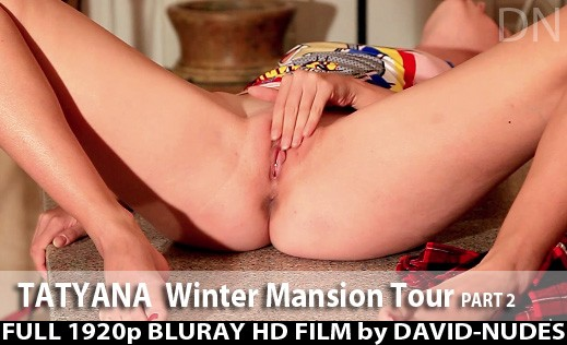 Tatyana - `Winter Mansion Tour - Part 2` - by David Weisenbarger for DAVID-NUDES