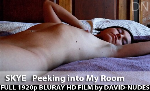 Skye - `Peeking Into My Room` - by David Weisenbarger for DAVID-NUDES