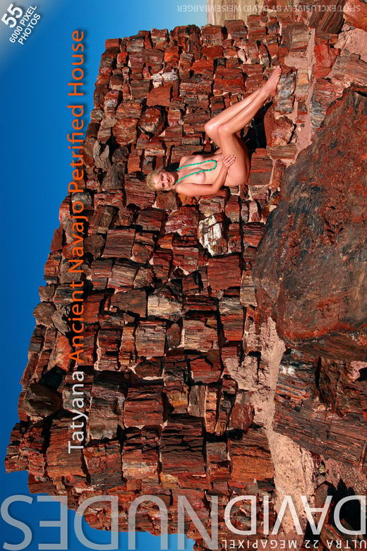 Tatyana - `Ancient Navajo Petrified House` - by David Weisenbarger for DAVID-NUDES