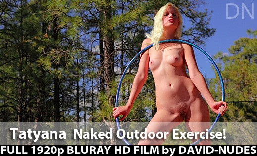 Tatyana - `Naked Outdoor Exercise` - by David Weisenbarger for DAVID-NUDES