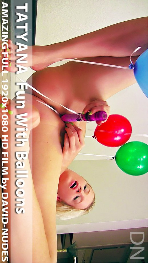 Tatyana - `Fun With Balloons` - by David Weisenbarger for DAVID-NUDES