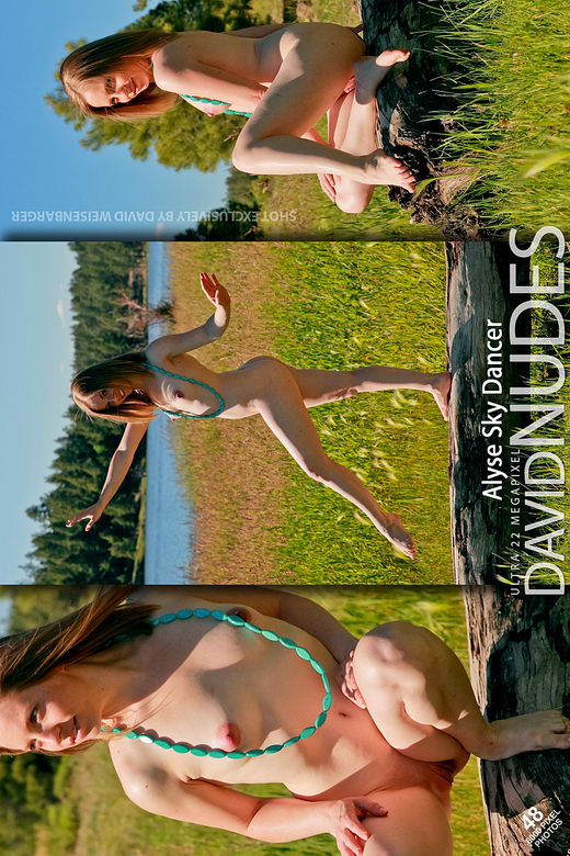 Alyse - `Sky Dancer` - by David Weisenbarger for DAVID-NUDES