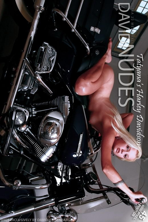 Tatyana - `Harley Davidson` - by David Weisenbarger for DAVID-NUDES