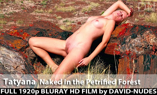 Tatyana - `Naked In the Petrified Forest` - by David Weisenbarger for DAVID-NUDES