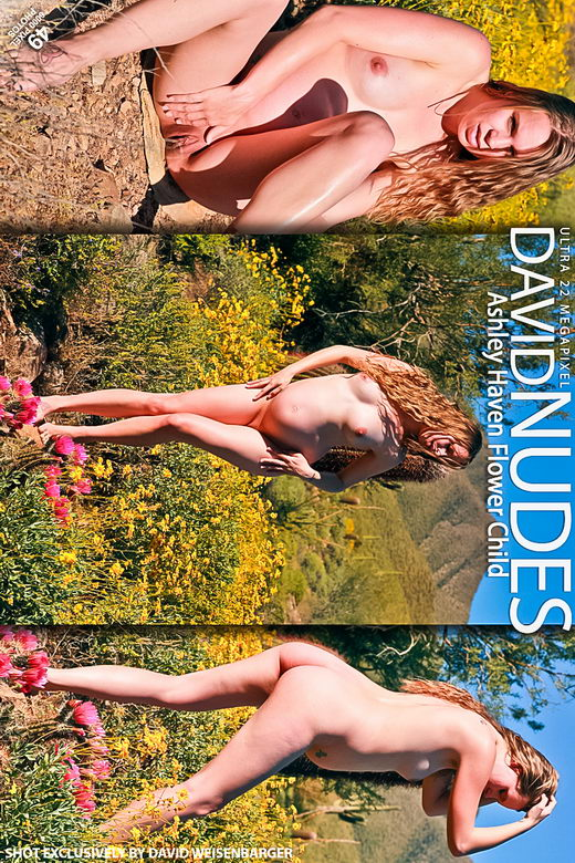 Ashley Haven - `Flower Child` - by David Weisenbarger for DAVID-NUDES