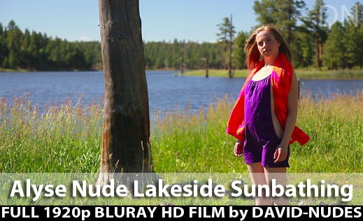 Alyse - `Nude Lakeside Sunbathing` - by David Weisenbarger for DAVID-NUDES