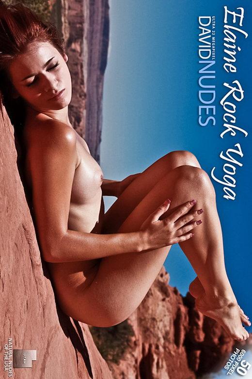 Elaine - `Rock Yoga` - by David Weisenbarger for DAVID-NUDES