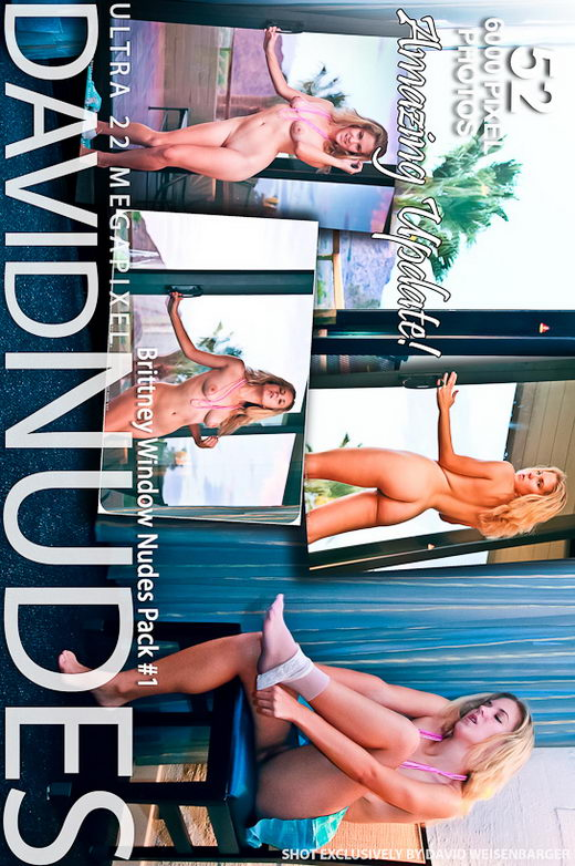Brittney - `Window Nudes - Pack #1` - by David Weisenbarger for DAVID-NUDES