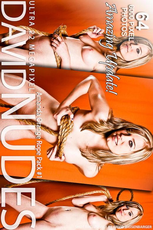 Amanda - `Orange Rope - Pack #1` - by David Weisenbarger for DAVID-NUDES