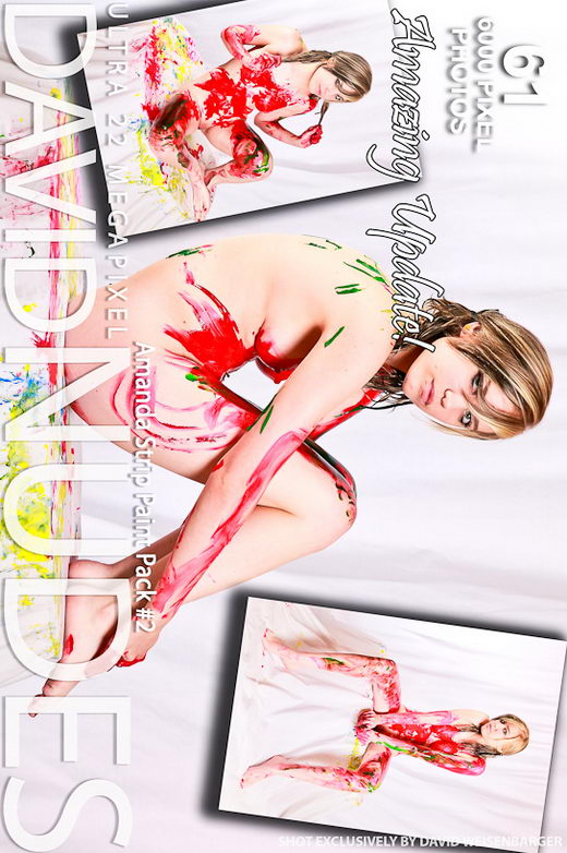 Amanda - `Strip Paint - Pack #2` - by David Weisenbarger for DAVID-NUDES