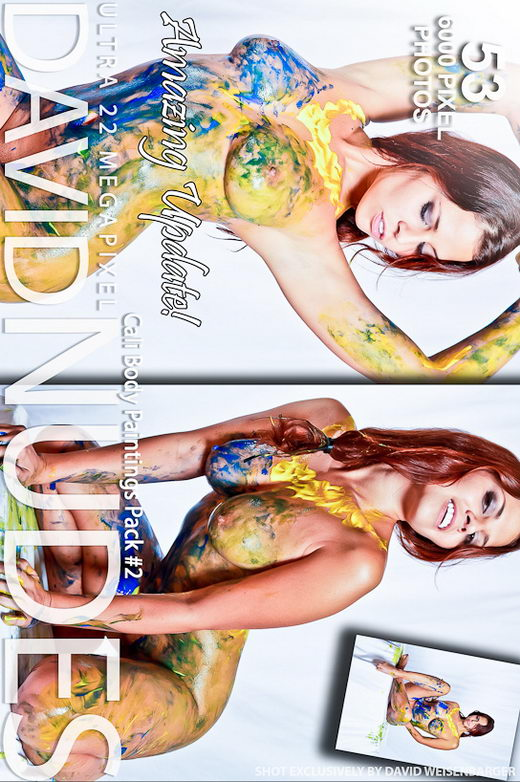 Cali - `Body Paintings - Pack #2` - by David Weisenbarger for DAVID-NUDES