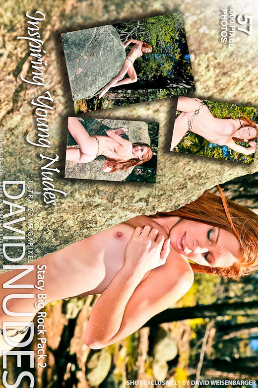 Stacy - `Big Rock - Pack 2` - by David Weisenbarger for DAVID-NUDES