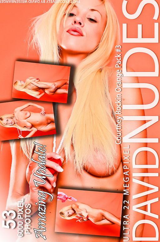 Courtney - `Rockin Orange - Pack #3` - by David Weisenbarger for DAVID-NUDES