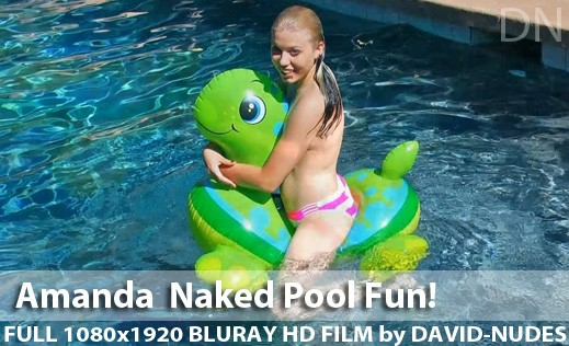 Amanda - `Naked Pool Fun!` - by David Weisenbarger for DAVID-NUDES