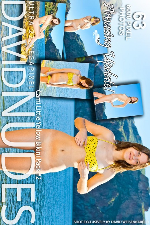Cami - `Little Yellow Bikini - Pack #2` - by David Weisenbarger for DAVID-NUDES