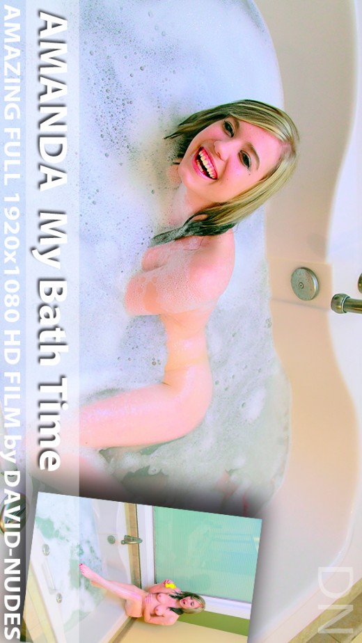 Amanda - `My Bath Time` - by David Weisenbarger for DAVID-NUDES