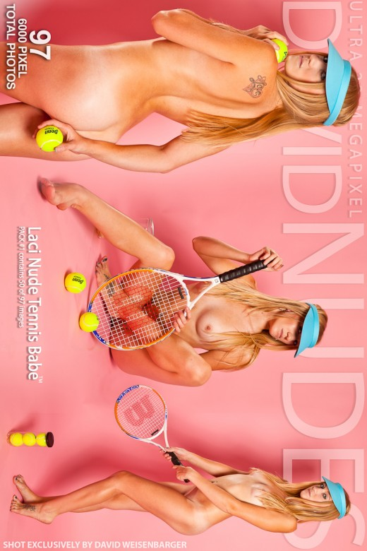 Laci - `Nude Tennis Babe - Pack #1` - by David Weisenbarger for DAVID-NUDES