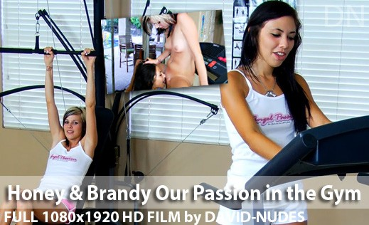 Honey & Brandy - `Our Passion In the Gym` - by David Weisenbarger for DAVID-NUDES