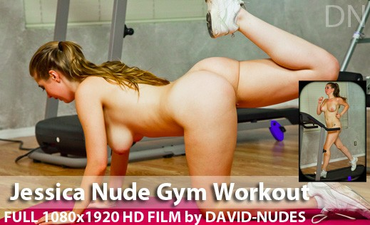 Jessica - `Nude Gym Workout` - by David Weisenbarger for DAVID-NUDES
