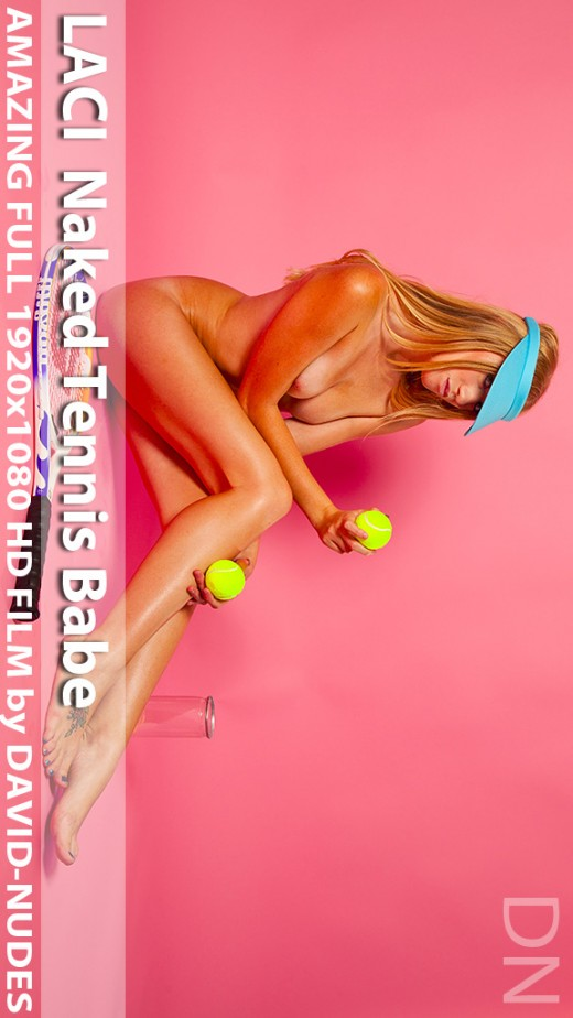 Laci - `Naked Tennis Babe` - by David Weisenbarger for DAVID-NUDES