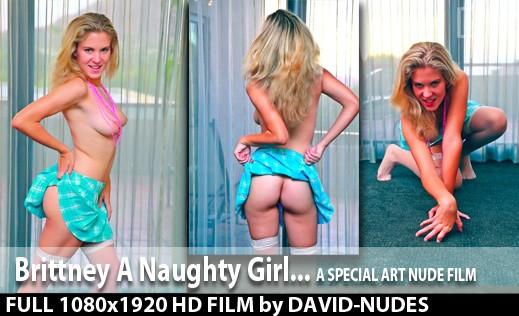 Brittney - `A Naughty Girl` - by David Weisenbarger for DAVID-NUDES