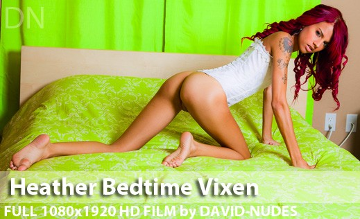 Heather - `Bedtime Vixen` - by David Weisenbarger for DAVID-NUDES