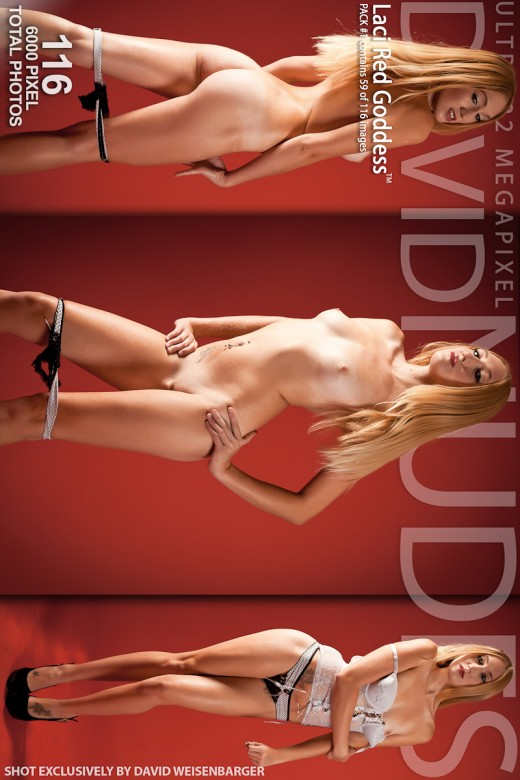 Laci - `Red Goddess - Pack #1` - by David Weisenbarger for DAVID-NUDES