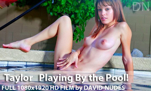 Taylor - `Playing By The Pool!` - by David Weisenbarger for DAVID-NUDES