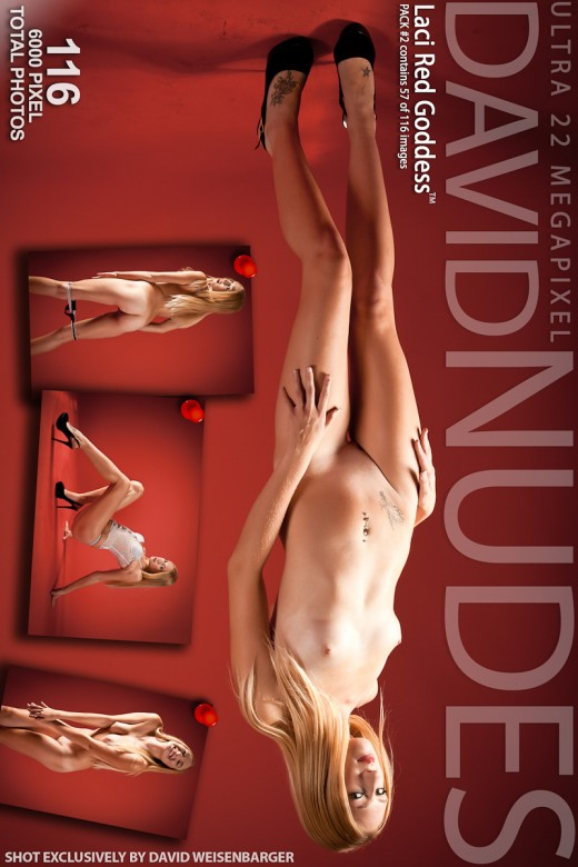 Laci - `Red Goddess - Pack #2` - by David Weisenbarger for DAVID-NUDES
