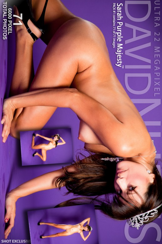 Sarah - `Purple Majesty` - by David Weisenbarger for DAVID-NUDES