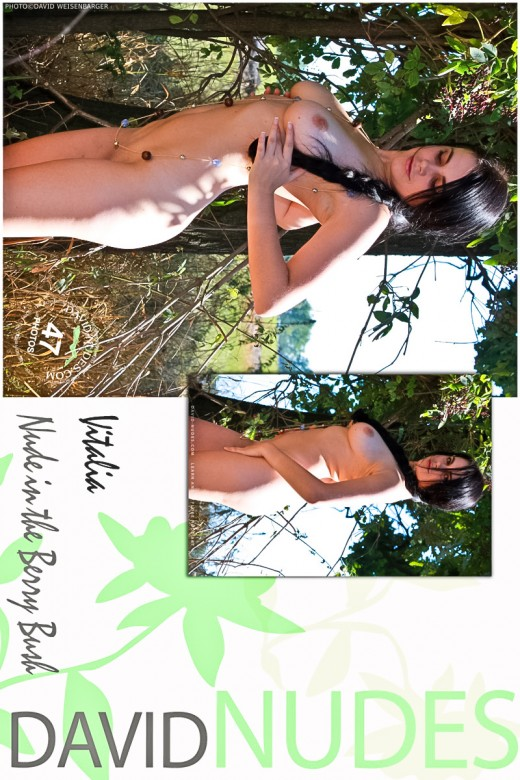 Vitalia - `Nude In The Berry Bush` - by David Weisenbarger for DAVID-NUDES