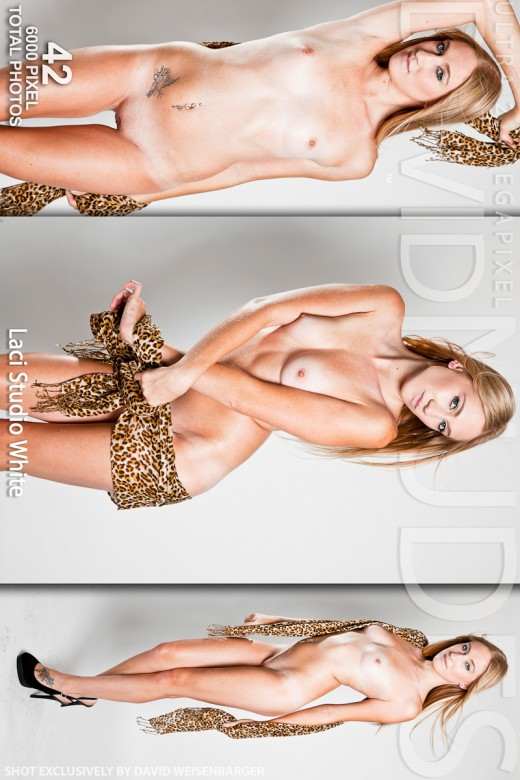 Laci - `Studio White` - by David Weisenbarger for DAVID-NUDES