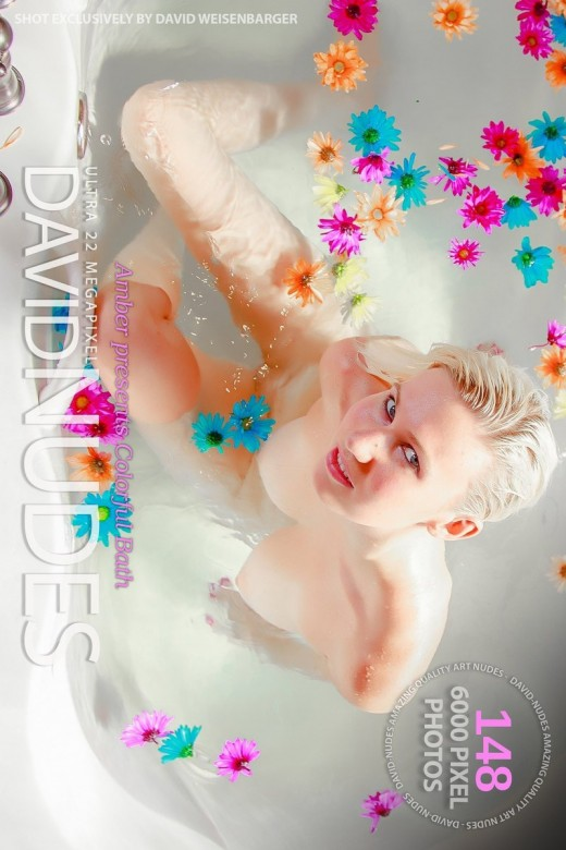 Amber - `Colorful Bath` - by David Weisenbarger for DAVID-NUDES