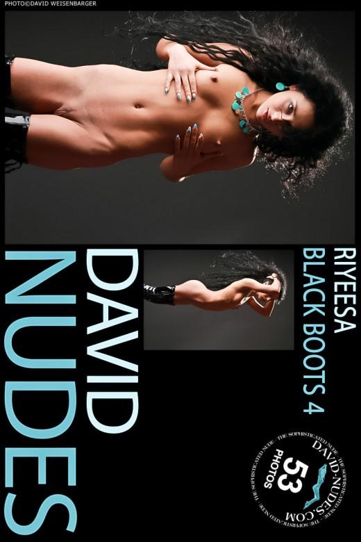 Riyeesa - `Black Boots 4` - by David Weisenbarger for DAVID-NUDES