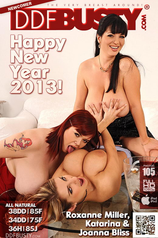 Roxanne Miller & Joanna Bliss & Katarina - `Holiday Knocker Convention!` - for DDFBUSTY
