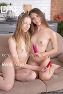 Karol & Linda in Red Toys gallery from DENUDEART by Lorenzo Renzi