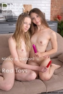 Ninfa & Stefani in Red Toys gallery from DENUDEART by Lorenzo Renzi