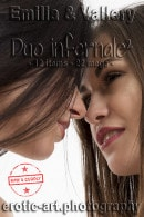 Vallery & Emilia F in Duo Infernale - Part 2 gallery from EROTIC-ART by JayGee