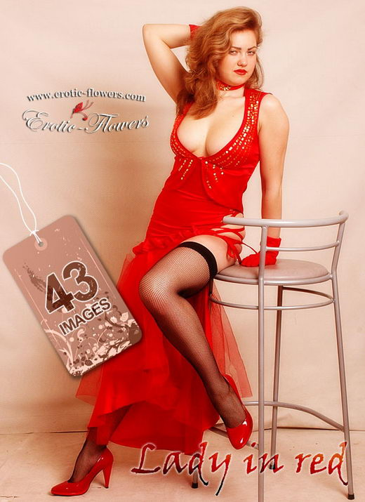 Glafira - `Lady In Red` - for EROTIC-FLOWERS