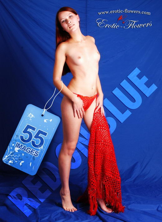 Pelageya - `Red On Blue` - for EROTIC-FLOWERS
