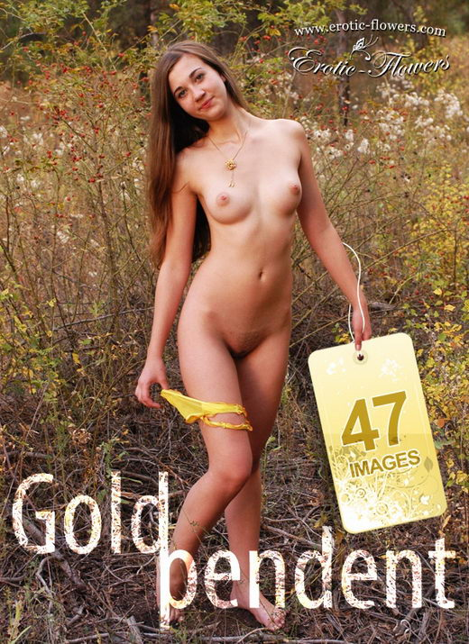 Joanna - `Gold Pendent` - for EROTIC-FLOWERS