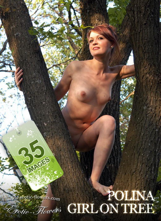 Polina - `Girl On Tree` - for EROTIC-FLOWERS