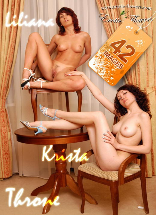 Krista & Liliana - `Throne` - for EROTIC-FLOWERS