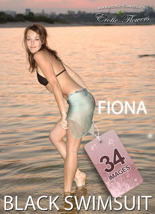 Fiona - `Black swimsuit` - for EROTIC-FLOWERS