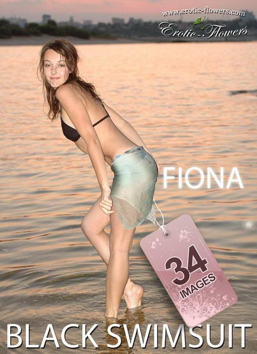 Fiona - `Black swimsuit` - for EROTIC-FLOWERS