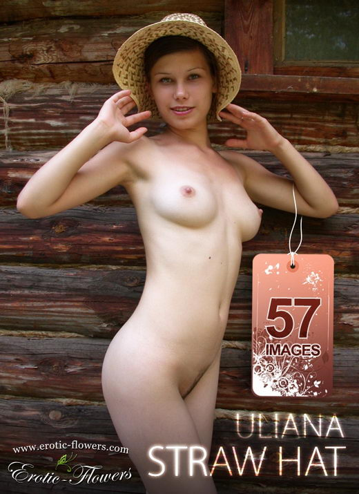 Uliana - `Straw hat` - for EROTIC-FLOWERS