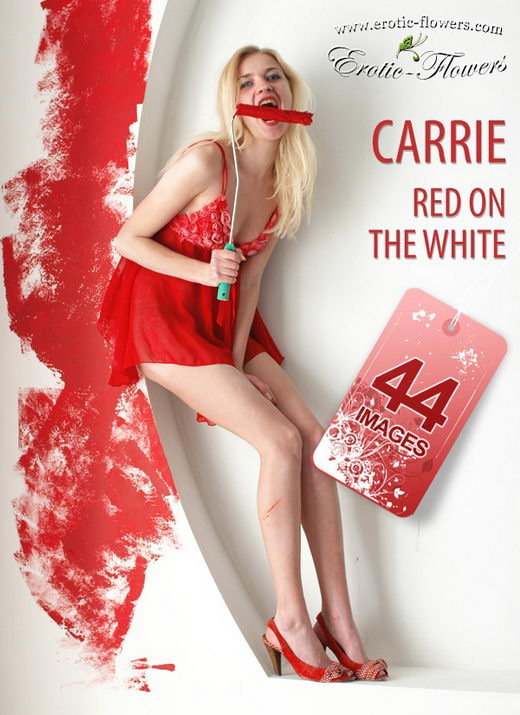 Carrie - `Red on the white` - for EROTIC-FLOWERS